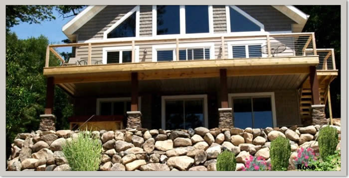 Deck Building and Boulder Retaining Walls Wisconsin